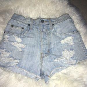 50%off‼️Carmar Distress Jean 5 button up Shorts 23